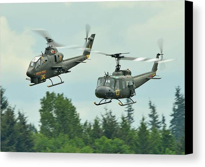 Air Cavalry Canvas Print featuring the photograph Air Cav by Jeff Cook