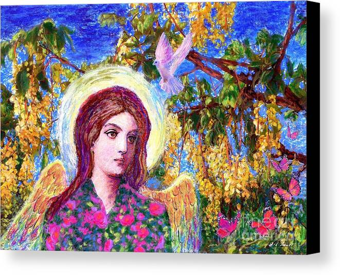 Angel Canvas Print featuring the painting Angel Love by Jane Small