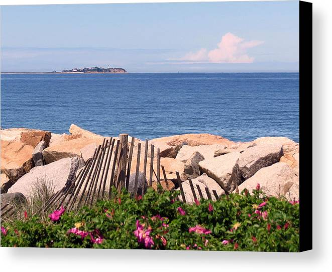 Beach Canvas Print featuring the photograph At The Beach by Janice Drew
