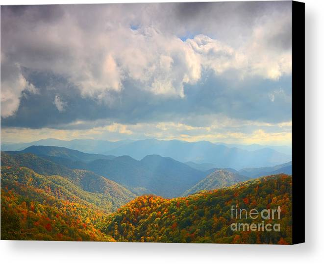 Autumn Canvas Print featuring the photograph Autumn Storm Over The Great Smoky Mountains National Park by Schwartz Nature Images