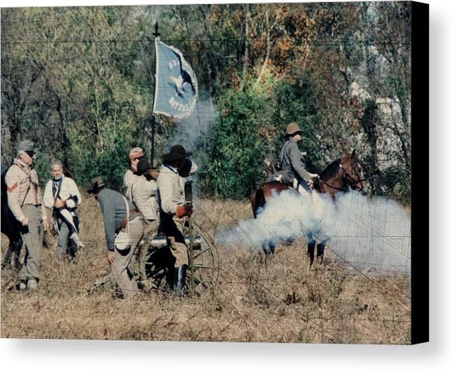 Civil War Canvas Print featuring the photograph Battle Of Franklin - 3 by Kae Cheatham