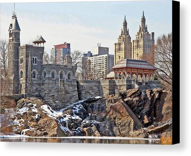 Castle Canvas Print featuring the photograph Belvedere Castle by Andre Aleksis