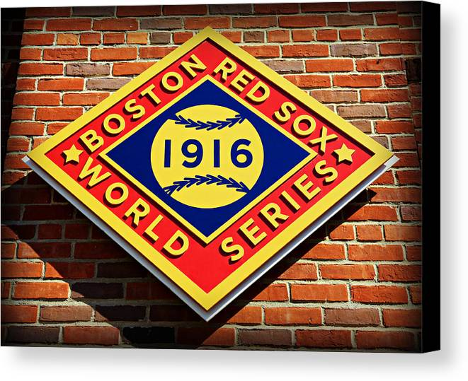Boston Canvas Print featuring the photograph Boston Red Sox 1916 World Champions by Stephen Stookey
