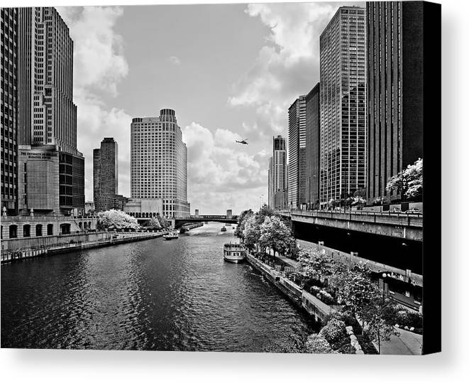 Chicago Canvas Print featuring the photograph Chicago River - The River That Flows Backwards by Christine Till