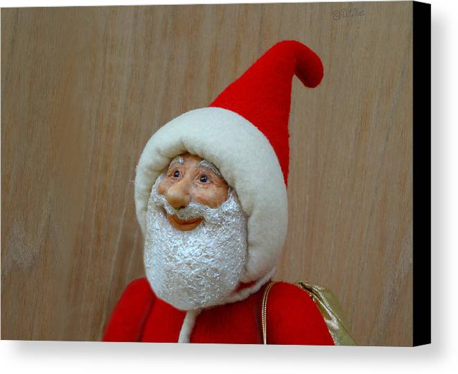 Santa Claus Canvas Print featuring the sculpture Christmas Cheer by David Wiles