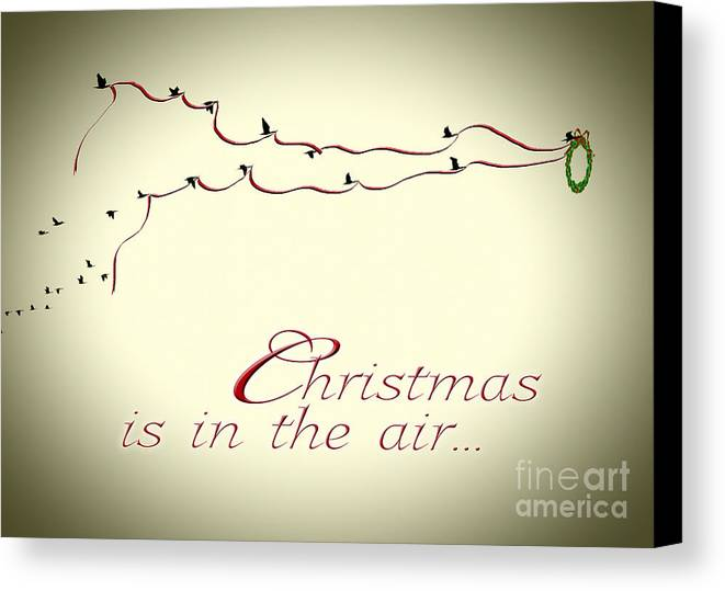 Christmas Canvas Print featuring the photograph Christmas Is In The Air by K Hines