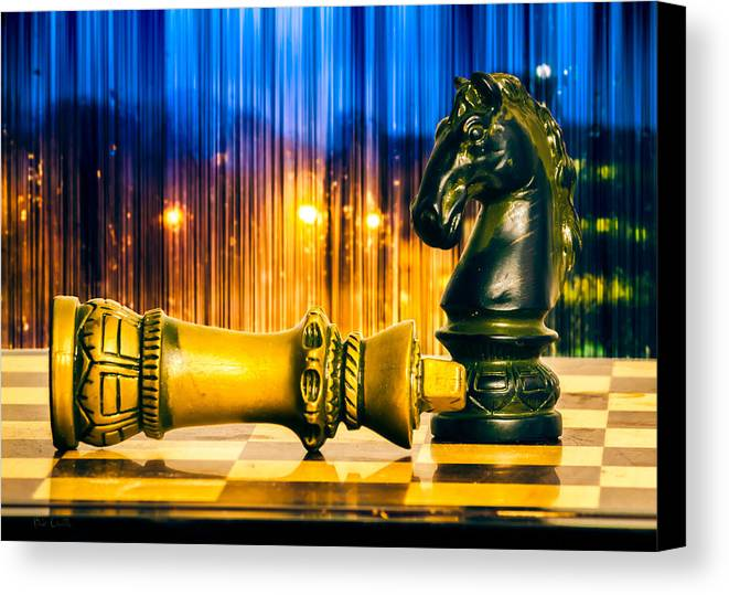 Chess Canvas Print featuring the photograph Condescending Knight by Bob Orsillo