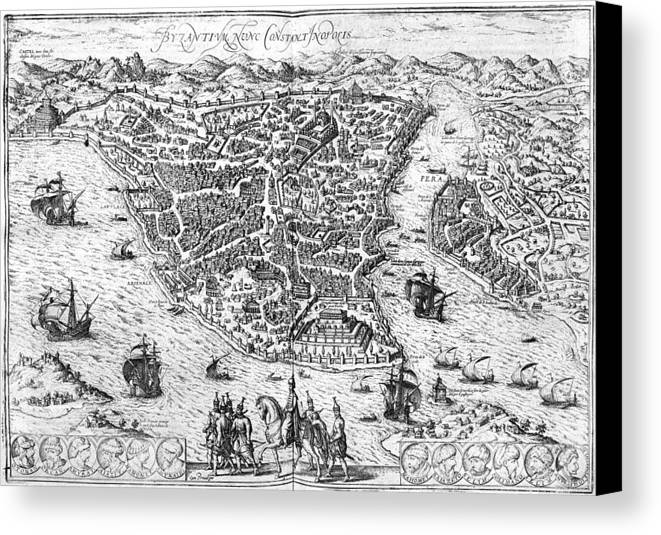 1576 Canvas Print featuring the photograph Constantinople, 1576 by Granger