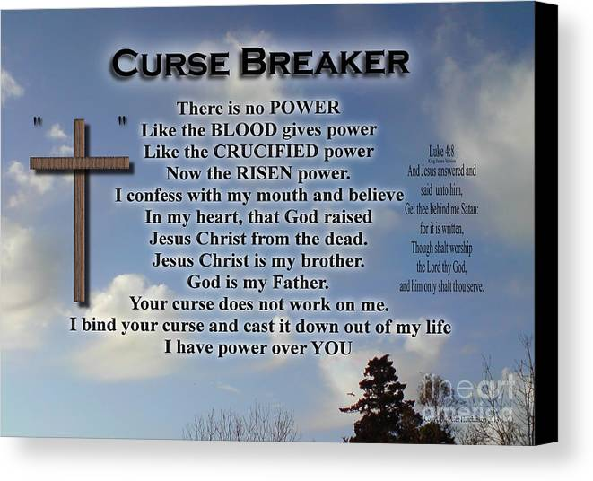Curse Breaker Canvas Print Canvas Art By Bible Verse