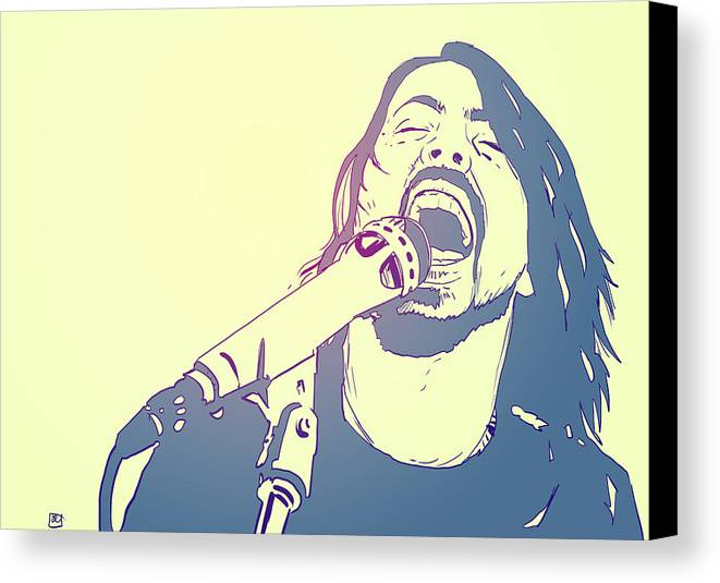 Dave Grohl Canvas Print featuring the photograph Dave Grohl by Giuseppe Cristiano