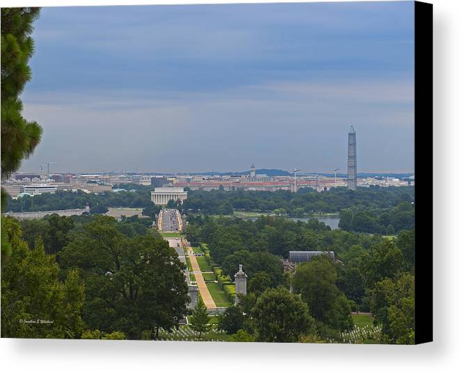 Washington Dc Canvas Print featuring the photograph Dc View by Jonathan Whichard