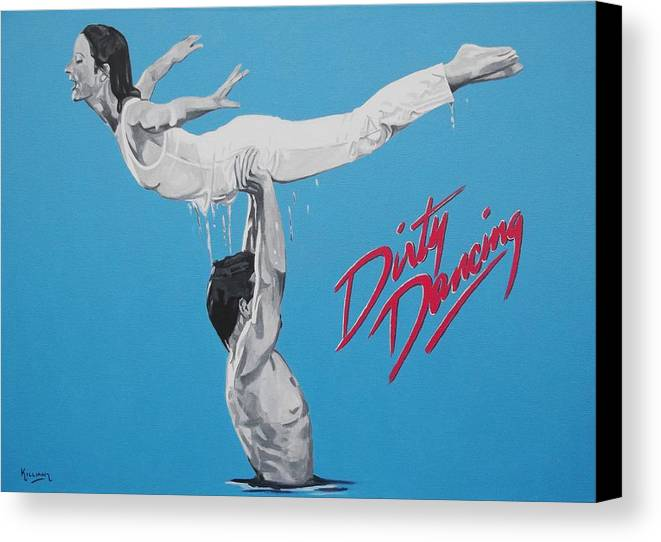 Dirty Dancing Canvas Print featuring the painting Dirty Dancing The Lift by Patrick Killian
