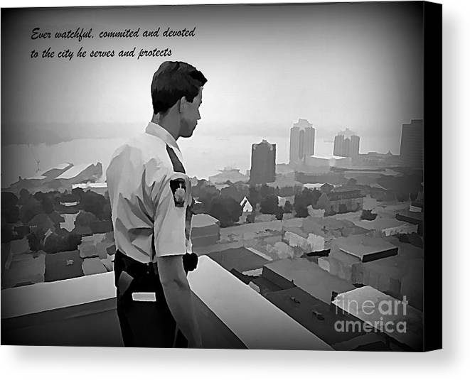 Ever Watchful Canvas Print featuring the painting Ever Watchful by John Malone