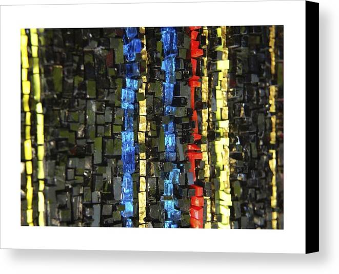 Mosaic Canvas Print featuring the glass art Fire Walk by Genna Wise