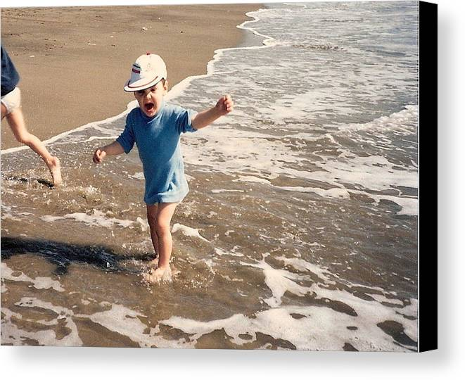 Waves Canvas Print featuring the photograph First Time by Beth Williams