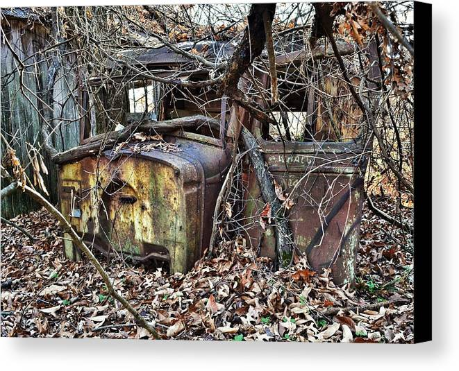 Delivery Canvas Print featuring the photograph Forgotten Delivery by Branden Simons