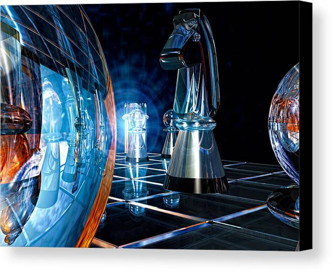 Chess Canvas Print featuring the photograph Game Transparent by Bob Orsillo