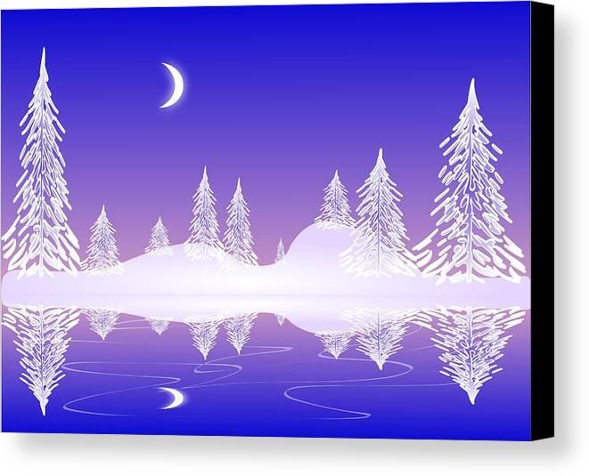 Cool Canvas Print featuring the digital art Glass Winter by Anastasiya Malakhova