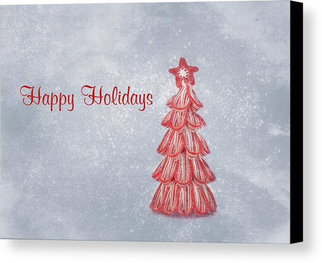 Christmas Card Art Canvas Print featuring the photograph Happy Holidays by Kim Hojnacki