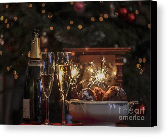 New Year's Eve Canvas Print featuring the photograph Happy New Year by Patricia Hofmeester
