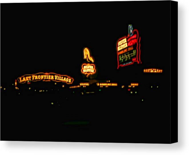 Canvas Print featuring the photograph Las Vegas Vintage Signs by Cathy Anderson