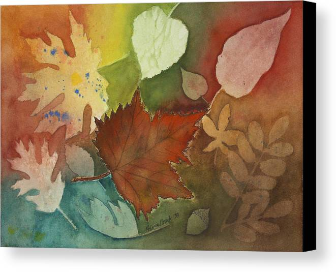 Leaves Canvas Print featuring the painting Leaves Vl by Patricia Novack