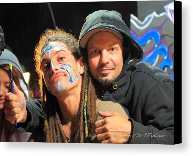 Live Artists Rw2k14 Canvas Print featuring the photograph Live Artists Rw2k14 by PJQandFriends Photography
