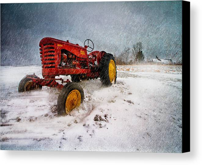 Transportation Canvas Print featuring the photograph Massey Harris Mustang by Bob Orsillo