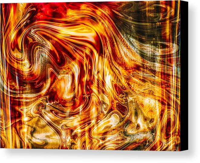 Georgia Okeefe Canvas Print featuring the painting Melting Gold by Omaste Witkowski
