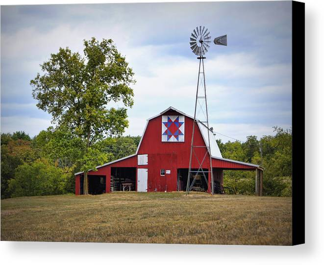 Barn Canvas Print featuring the photograph Missouri Star Quilt Barn by Cricket Hackmann
