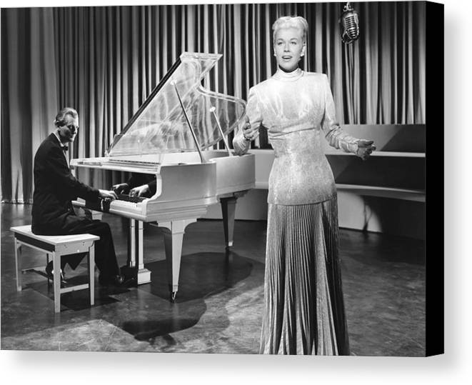 1940s Movies Canvas Print featuring the photograph My Dream Is Yours, Doris Day, In A Gown by Everett
