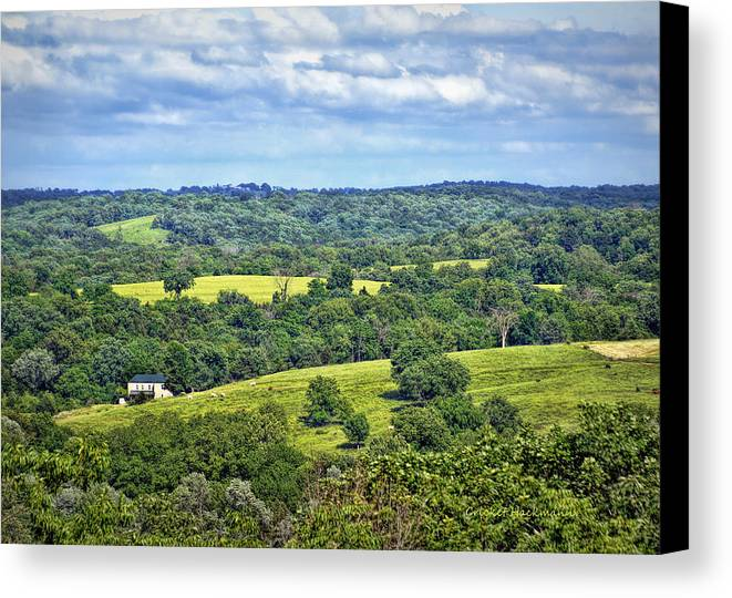 View Canvas Print featuring the photograph Osage County Lookout by Cricket Hackmann