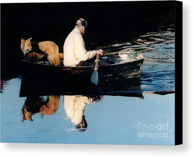 Susan Canvas Print featuring the photograph Out For A Boat Ride by Susan Crossman Buscho