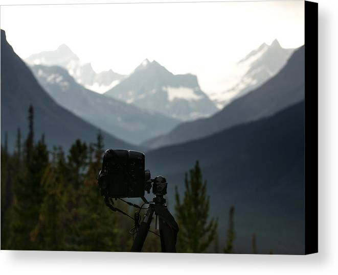 Tonquin Canvas Print featuring the photograph Photographing The Tonquin Valley by Cale Best