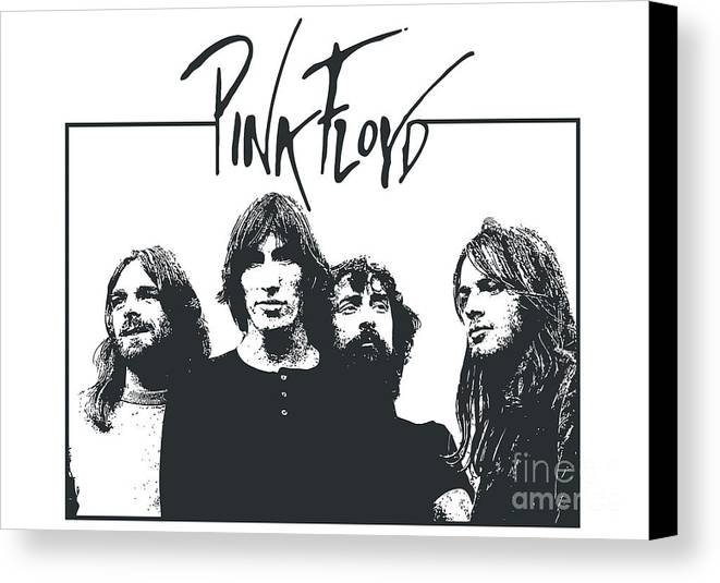 Pink Floyd Canvas Print featuring the digital art Pink Floyd No.05 by Caio Caldas