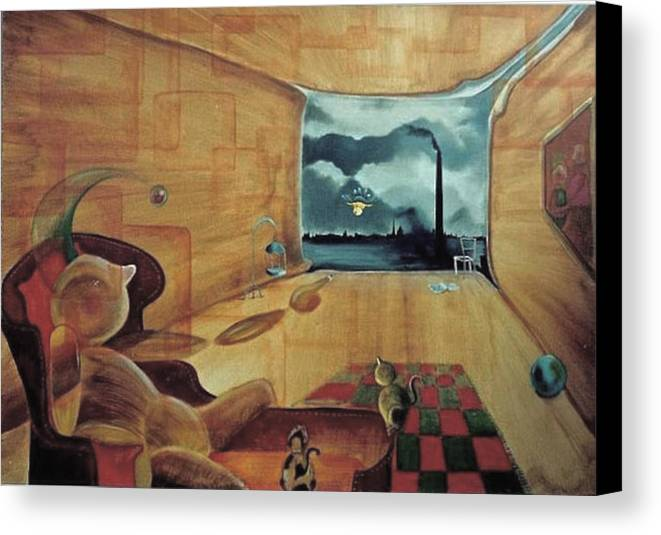 Fantasy Canvas Print featuring the painting Pollution by Blima Efraim