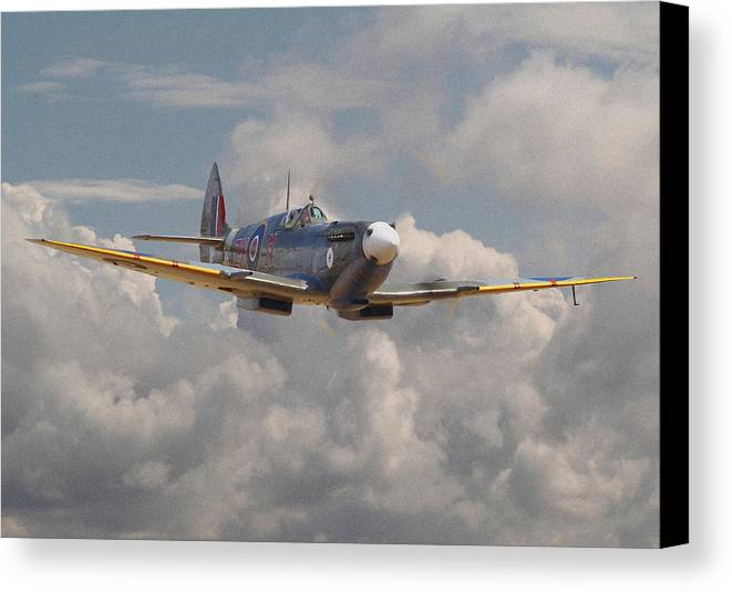 Aircraft Canvas Print featuring the digital art Portrait Of An Icon by Pat Speirs