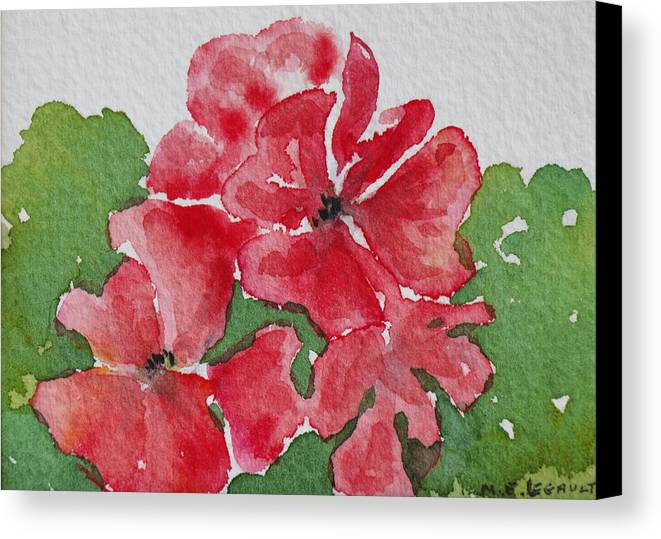 Floral Canvas Print featuring the painting Pzzzazz by Mary Ellen Mueller Legault