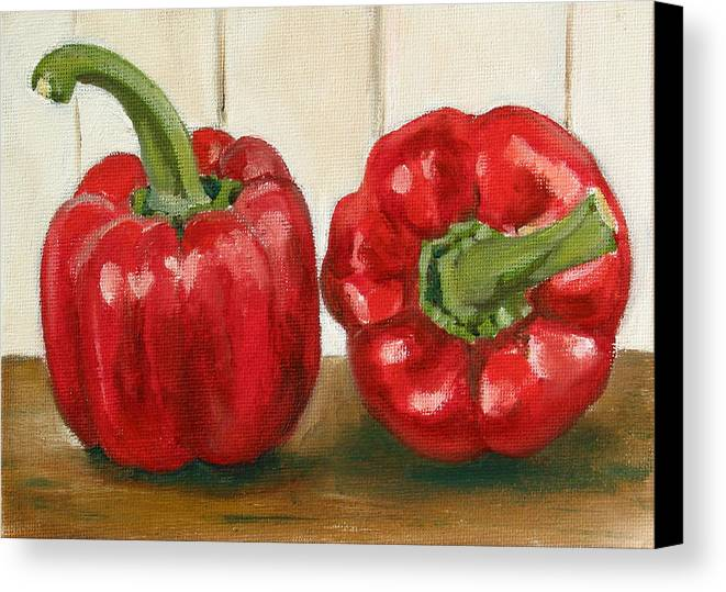 Food Canvas Print featuring the painting Red Pepper by Sarah Lynch