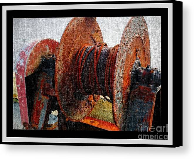 Rusty Winch Canvas Print featuring the photograph Rusty Winch by Barbara Griffin