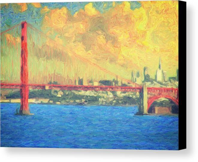 San Francisco Canvas Print featuring the painting San Francisco by Taylan Apukovska