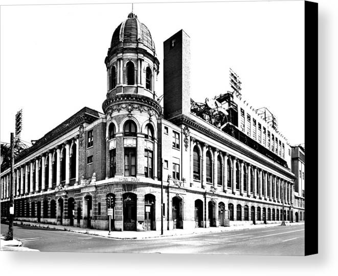 Shibe Canvas Print featuring the photograph Shibe Park by Benjamin Yeager
