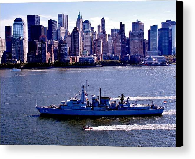 Nato Canvas Print featuring the photograph Skyline Steaming by Benjamin Yeager