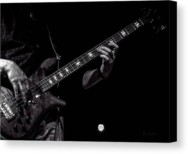 Bass Canvas Print featuring the photograph Sounds In The Night Bass Man by Bob Orsillo
