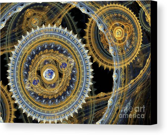 Machinist Canvas Print featuring the digital art Steampunk Machine by Martin Capek