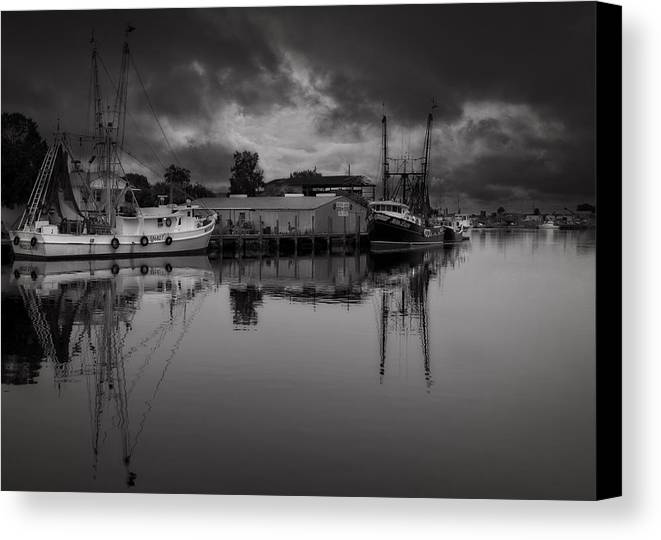 B&w Canvas Print featuring the photograph Storm Is Coming by Mario Celzner