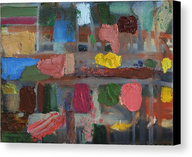 Abstract Paintings Canvas Print featuring the painting Strait Jacket by David Zimmerman