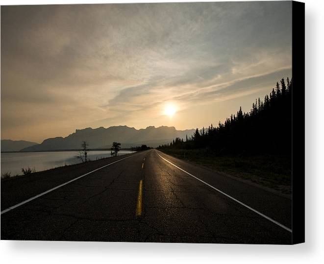 Sunrise Canvas Print featuring the photograph Sunrise On Highway 16 by Cale Best