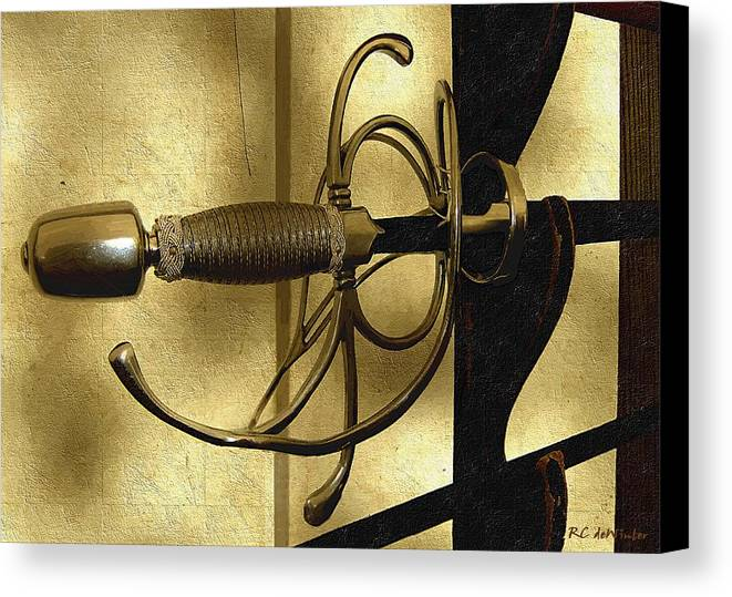 Sword Canvas Print featuring the painting The Art Of The Sword by RC DeWinter