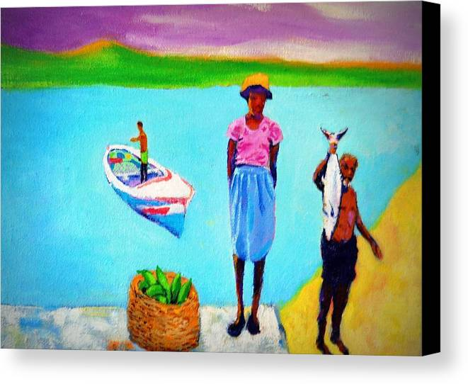 Ocean Canvas Print featuring the painting The Catch by Graham Weinroth